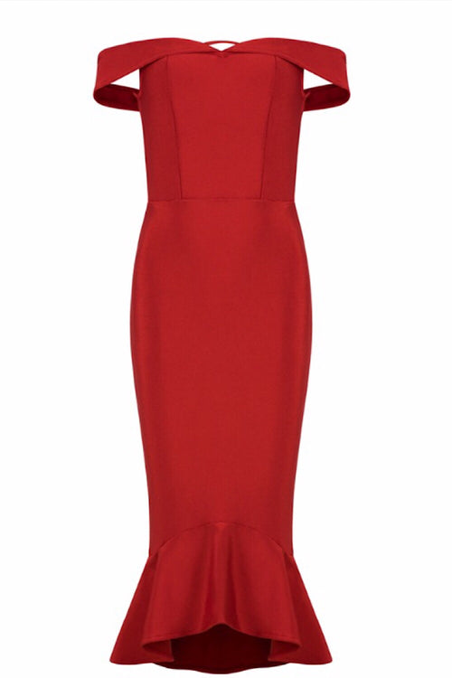 Rendezvous Red Bandage Dress