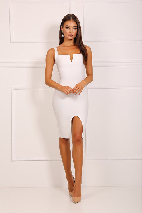 Frankie White Bandage Dress