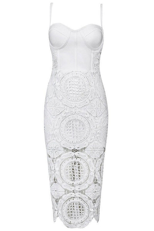 Isabella White Lace Dress