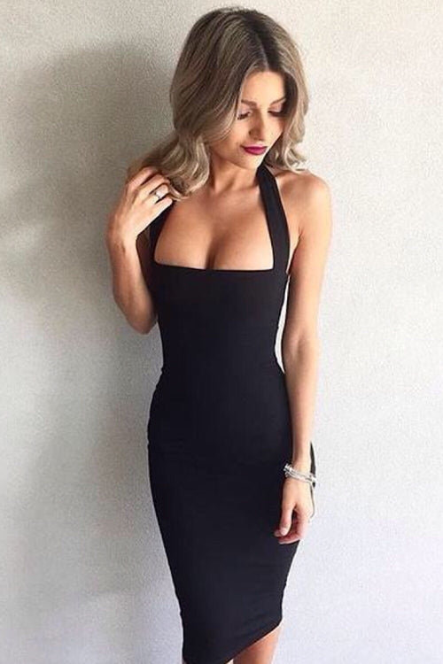 Jordan Black Bandage Dress