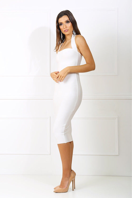 Jordan White Bandage Dress