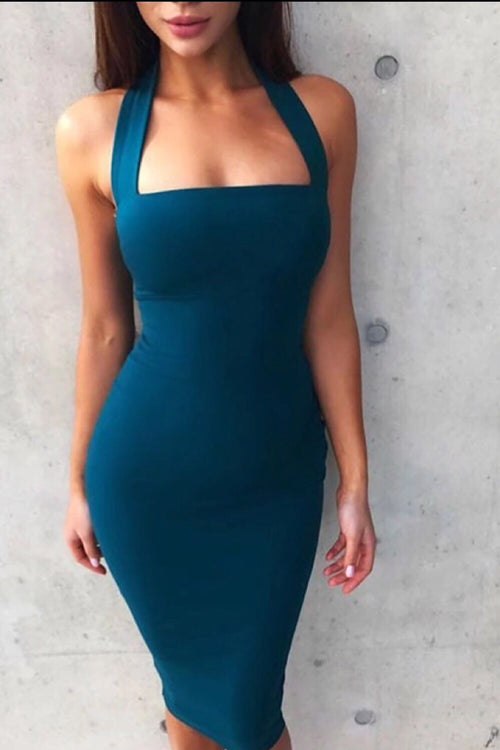 Jordan Teal Bandage Dress