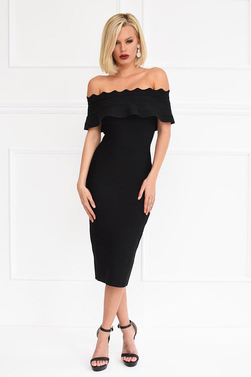 Kiki Black Bandage Dress