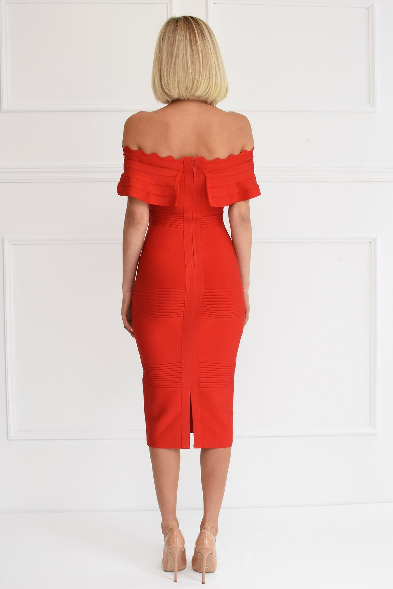 Kiki Red Bandage Dress