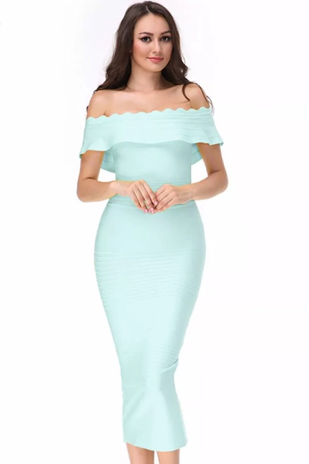 Kiki Aqua Bandage Dress