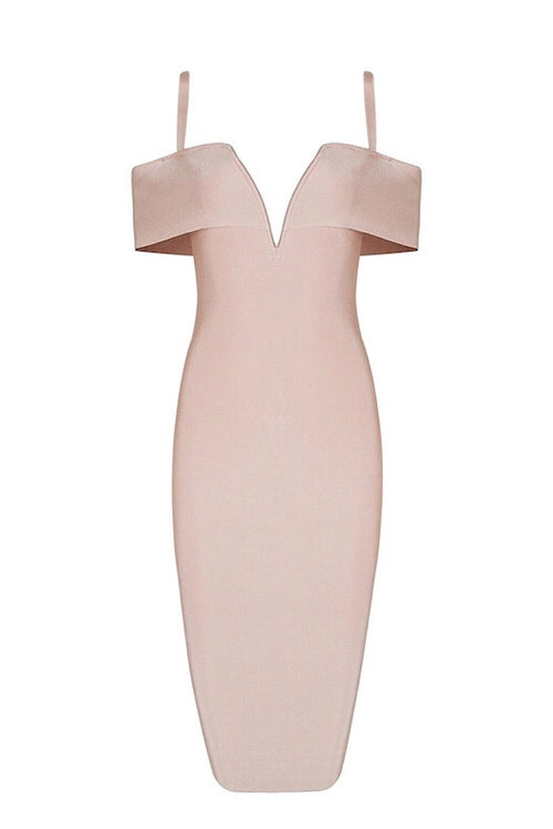 Stella Nude Bandage Dress