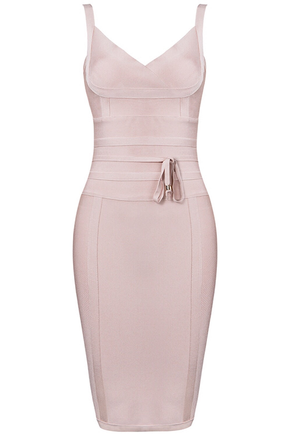 Blush Tie Waist Bandage Dress
