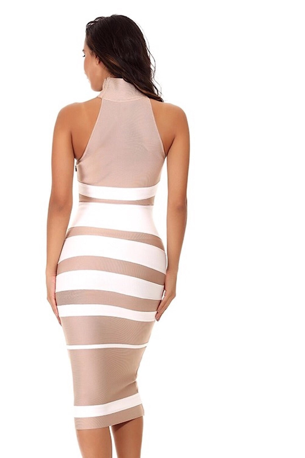 Espresso Stripe Bandage Dress