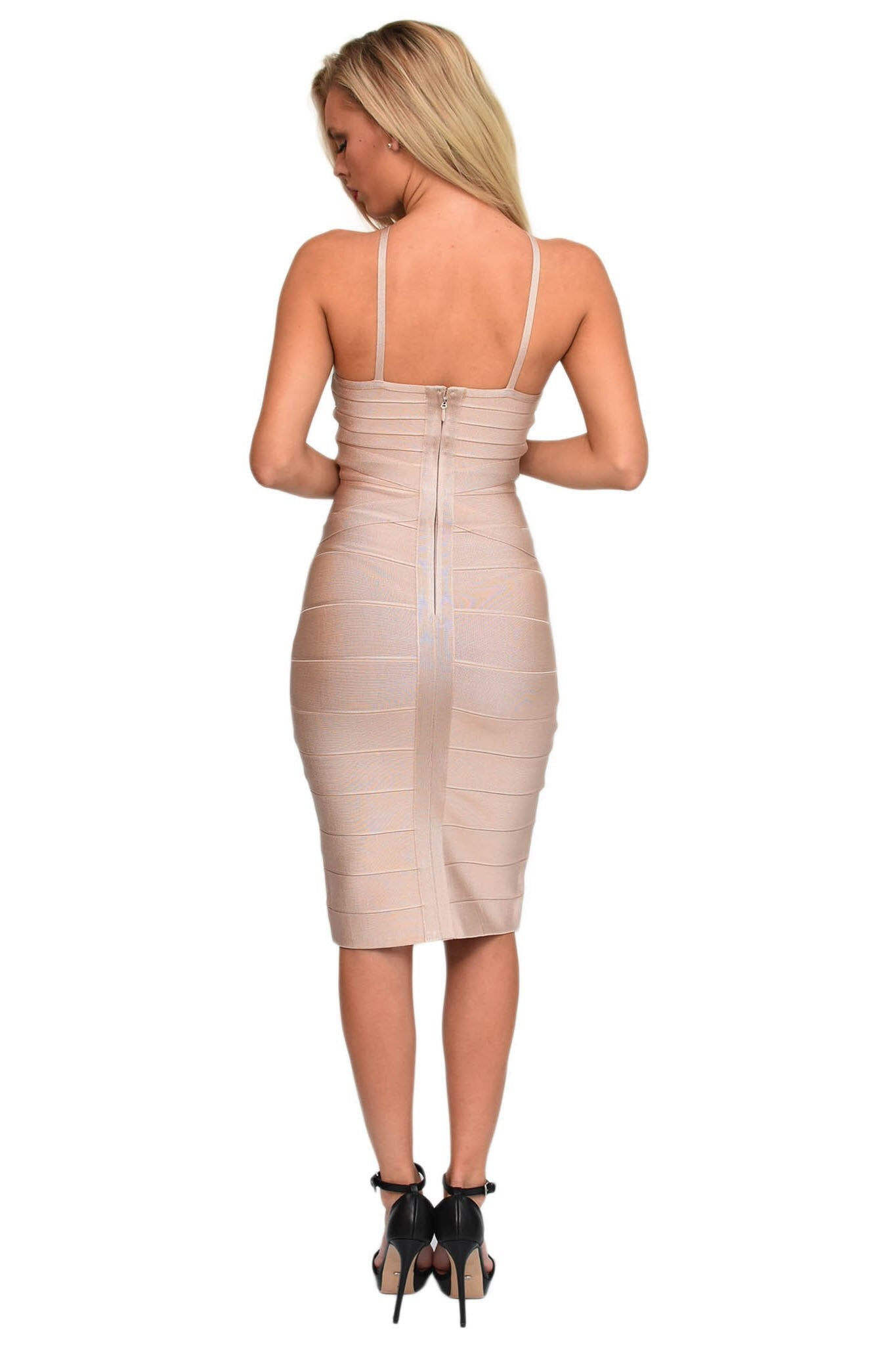 Becca Nude Two Way Bandage Dress