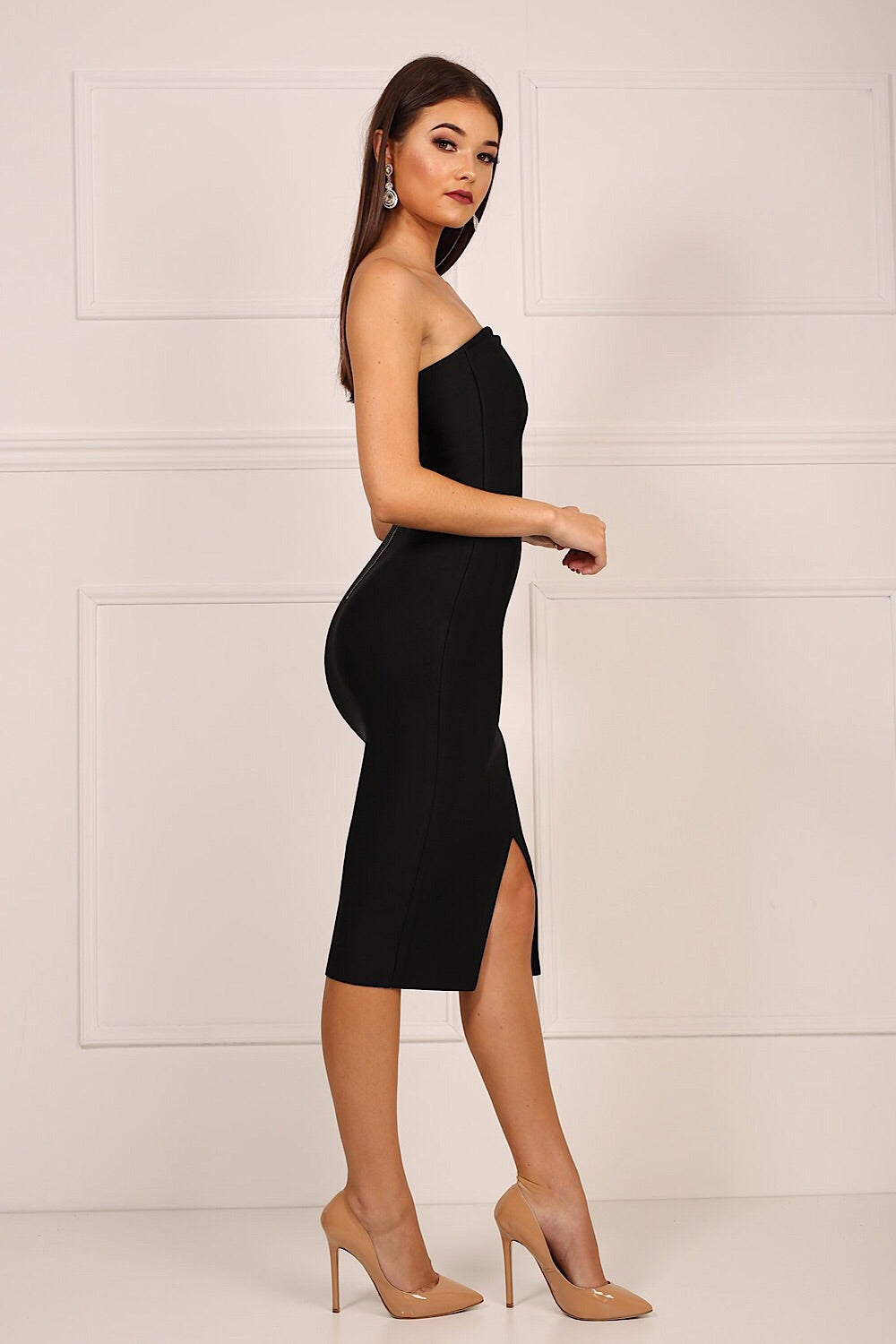 Molly Black One Shoulder Bandage Dress