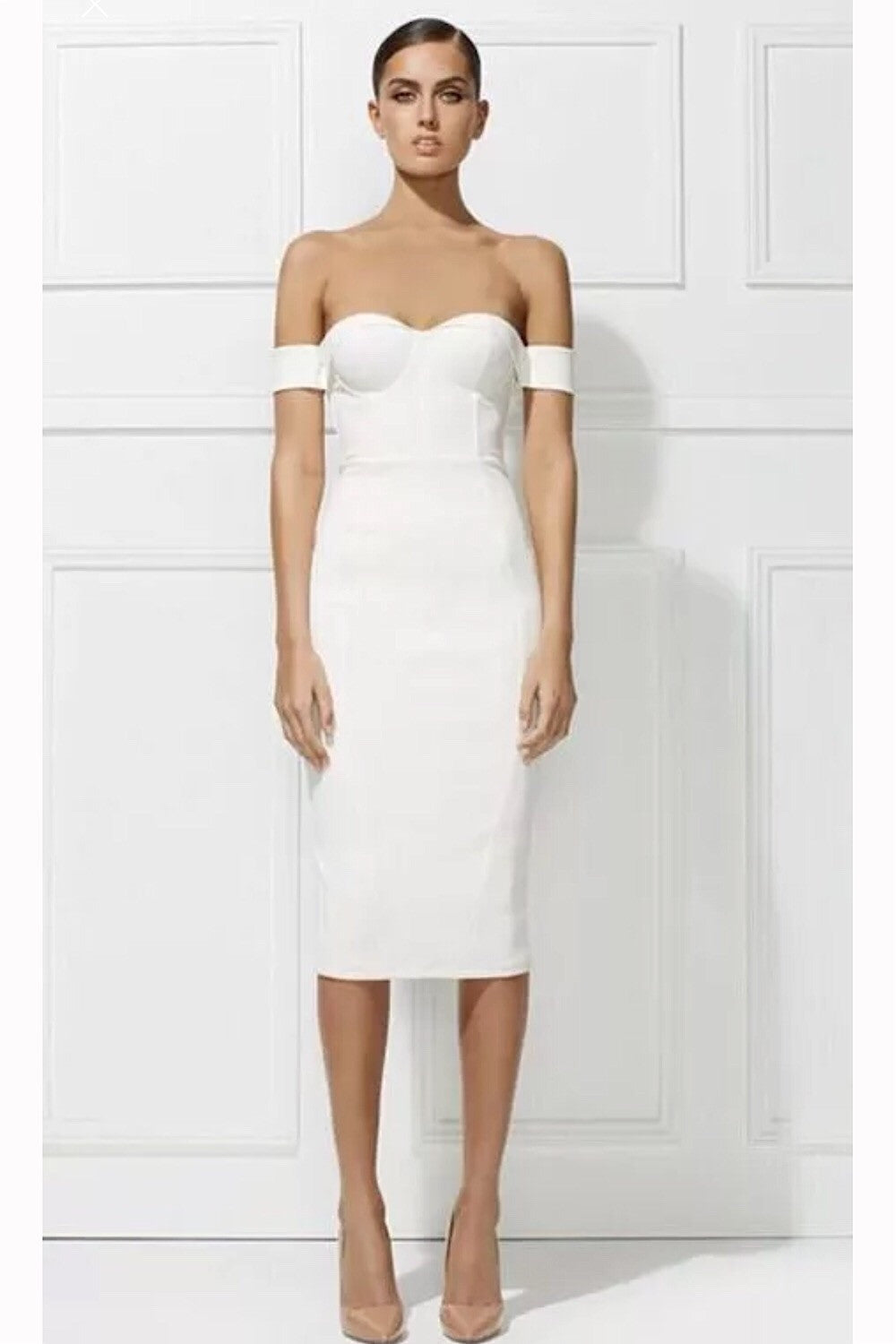 Amelia white Bandage Dress