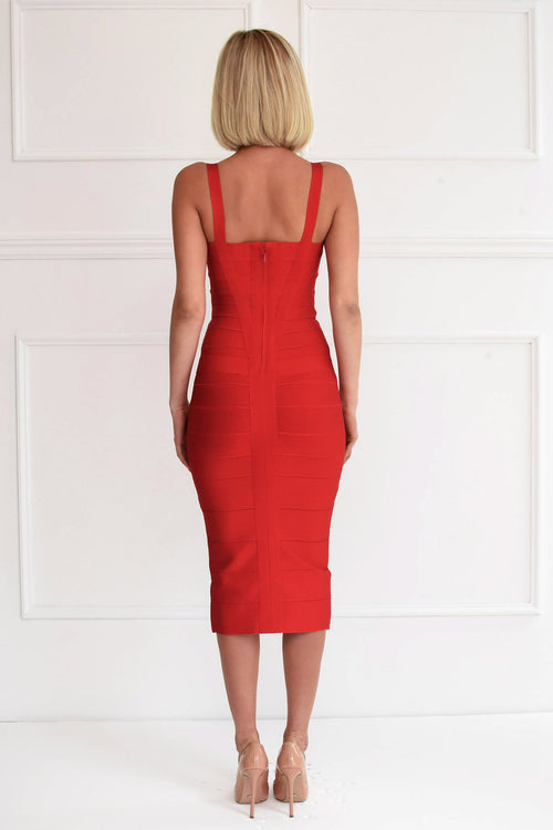 Vogue Red Bandage Dress