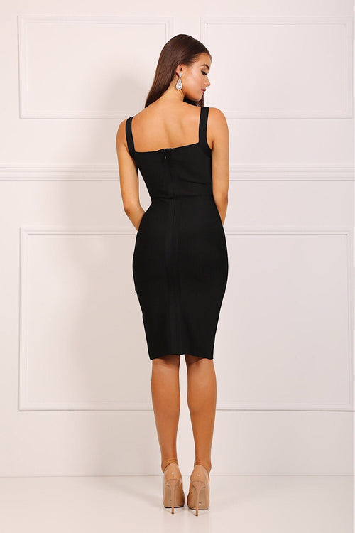 Frankie Black Bandage Dress
