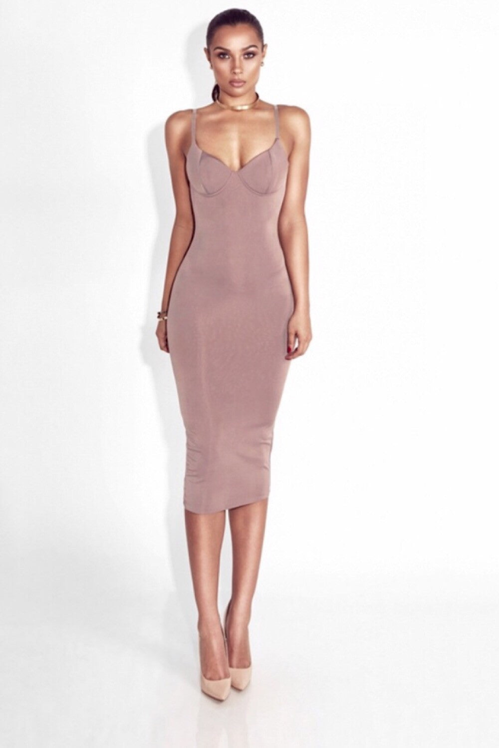 Valentine Nude Bandage Dress