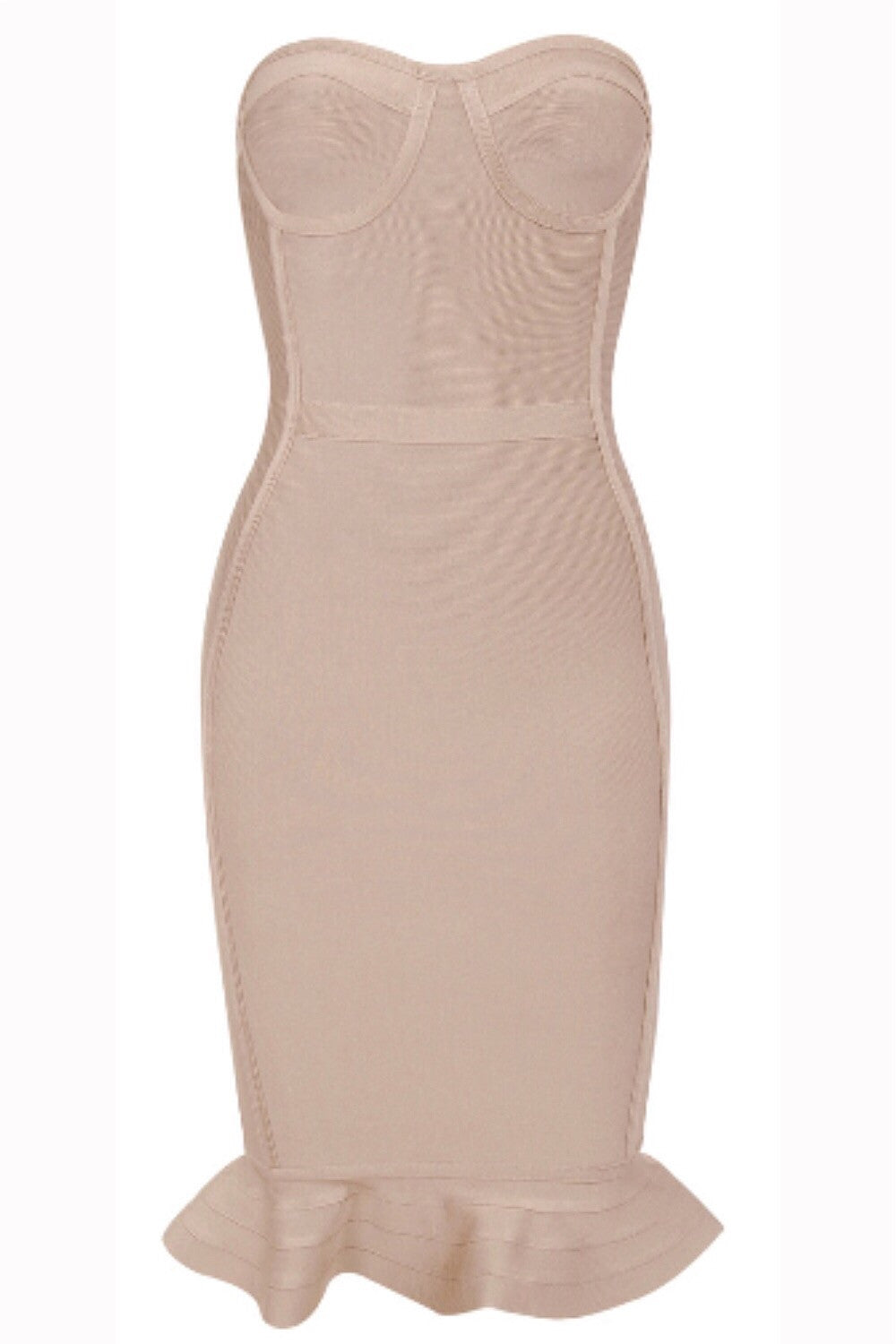 Vanessa Nude Bandage Dress