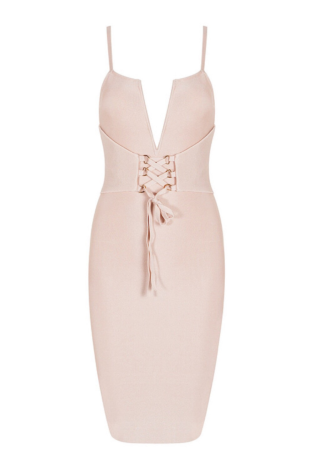 Sue Pink Tie Up Bandage Dress