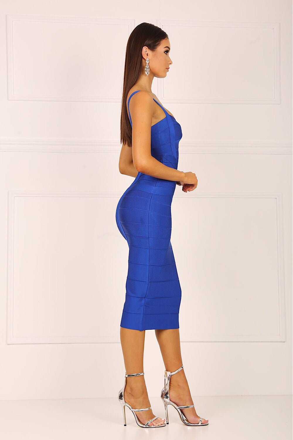 Vogue Royal Blue Bandage Dress