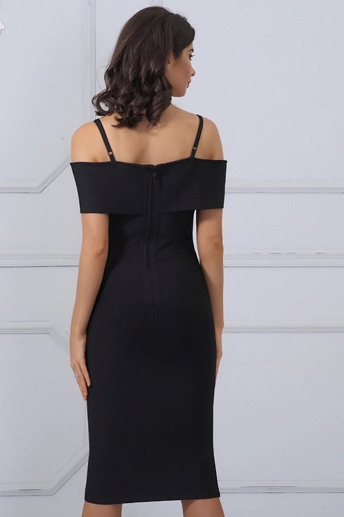 Stella Black Bandage Dress