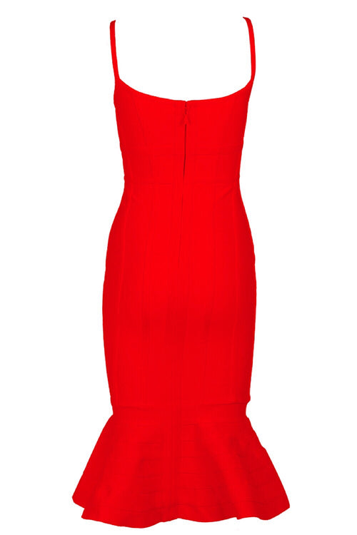 Alice Red Mermaid Bandage Dress