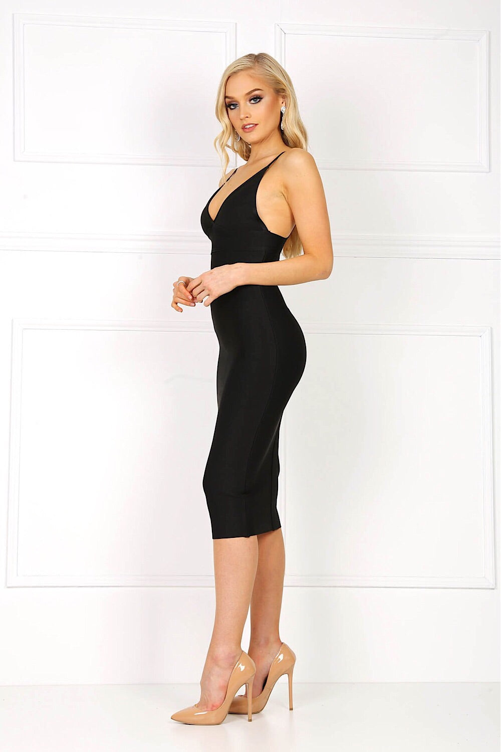 Fiona Black Bandage Dress