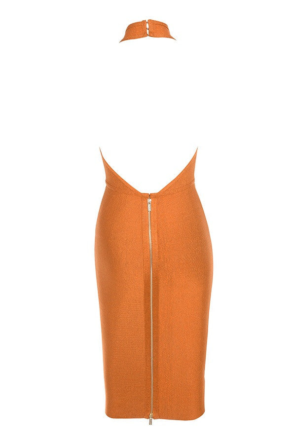 Shanna Camel Bandage Dress