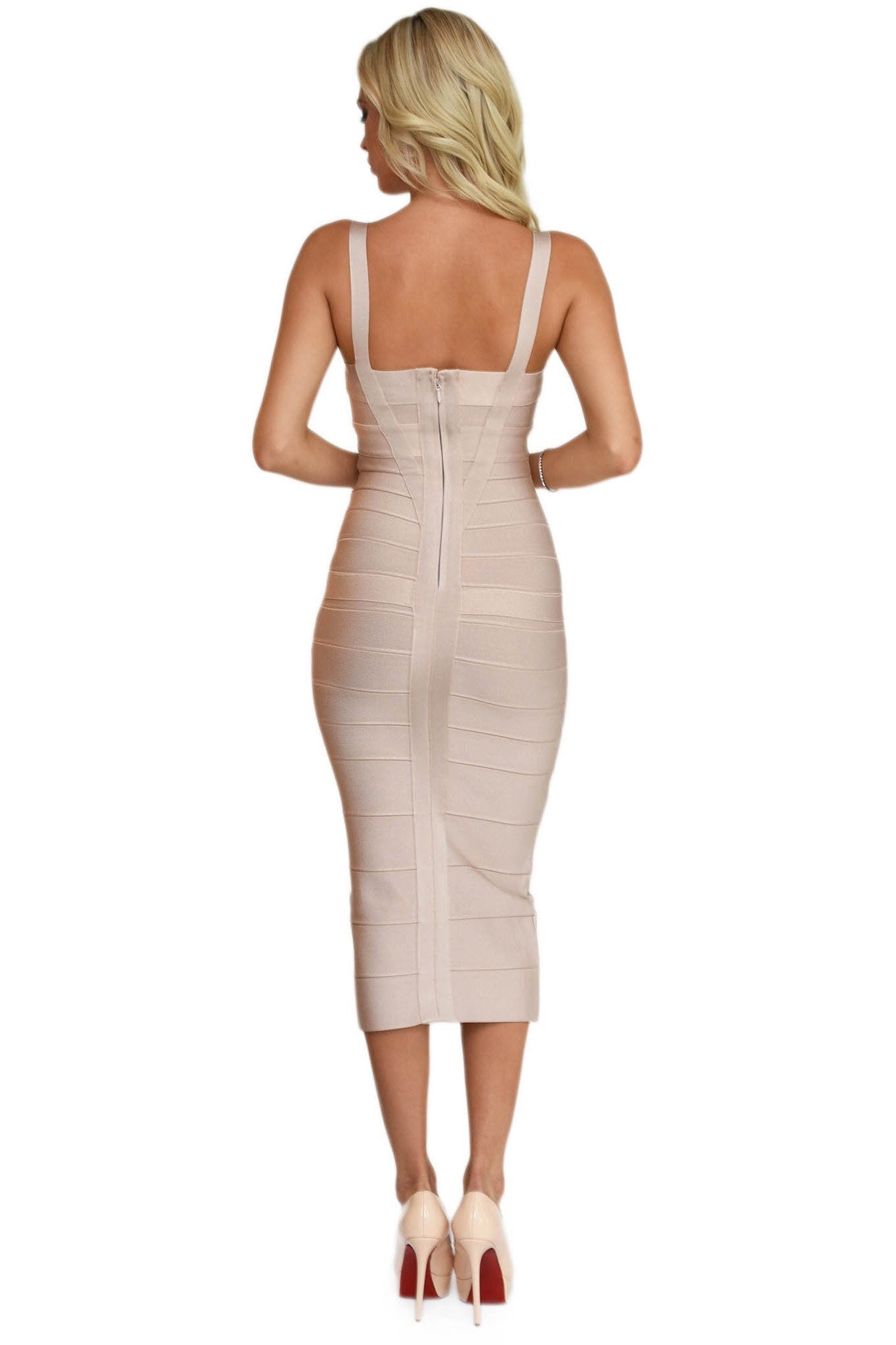 Vogue Nude Bandage Dress
