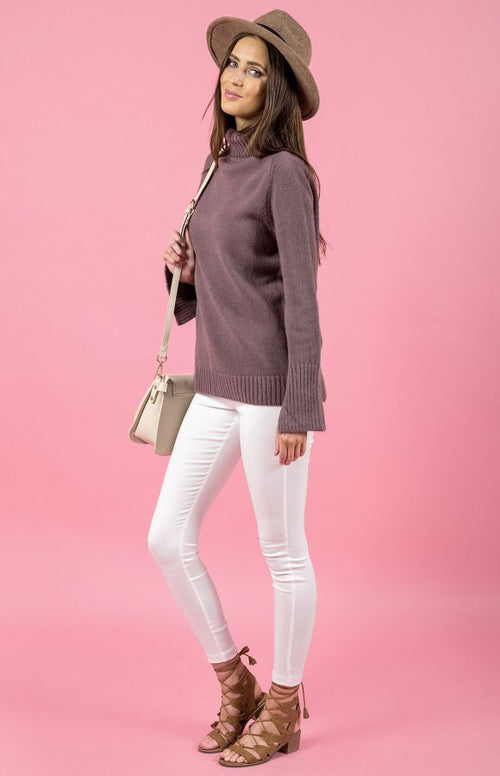 Grace Mauve Turtleneck Knit