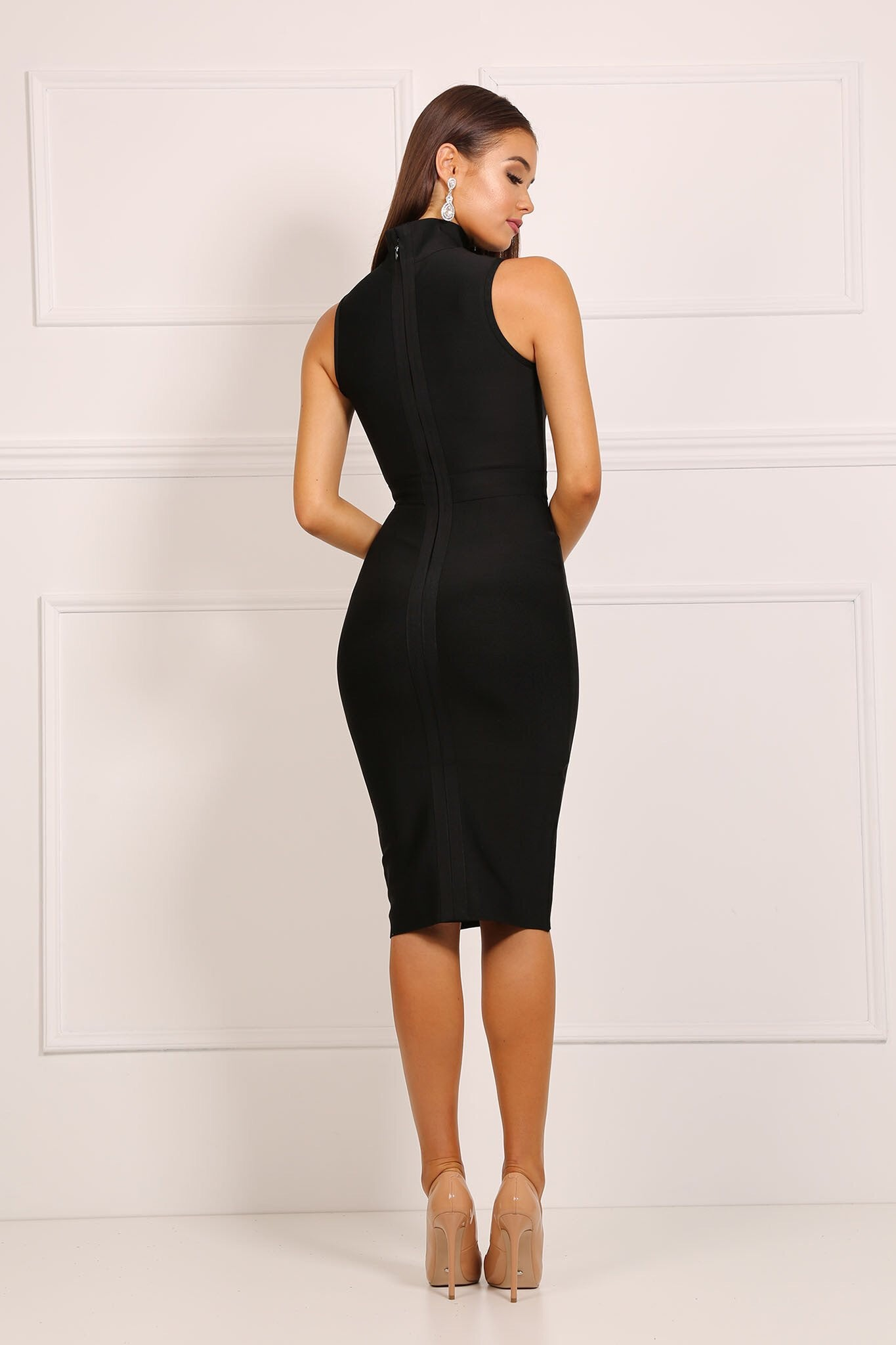 Sydney Black Bandage Dress