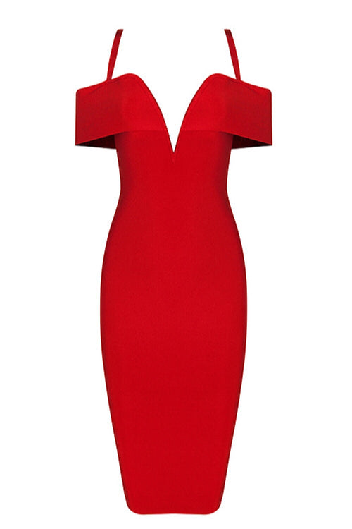 Stella Red Bandage Dress