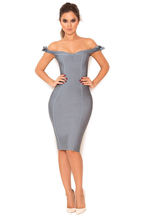 Kristy Slate Bandage Dress