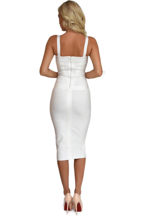 Vogue white Bandage Dress