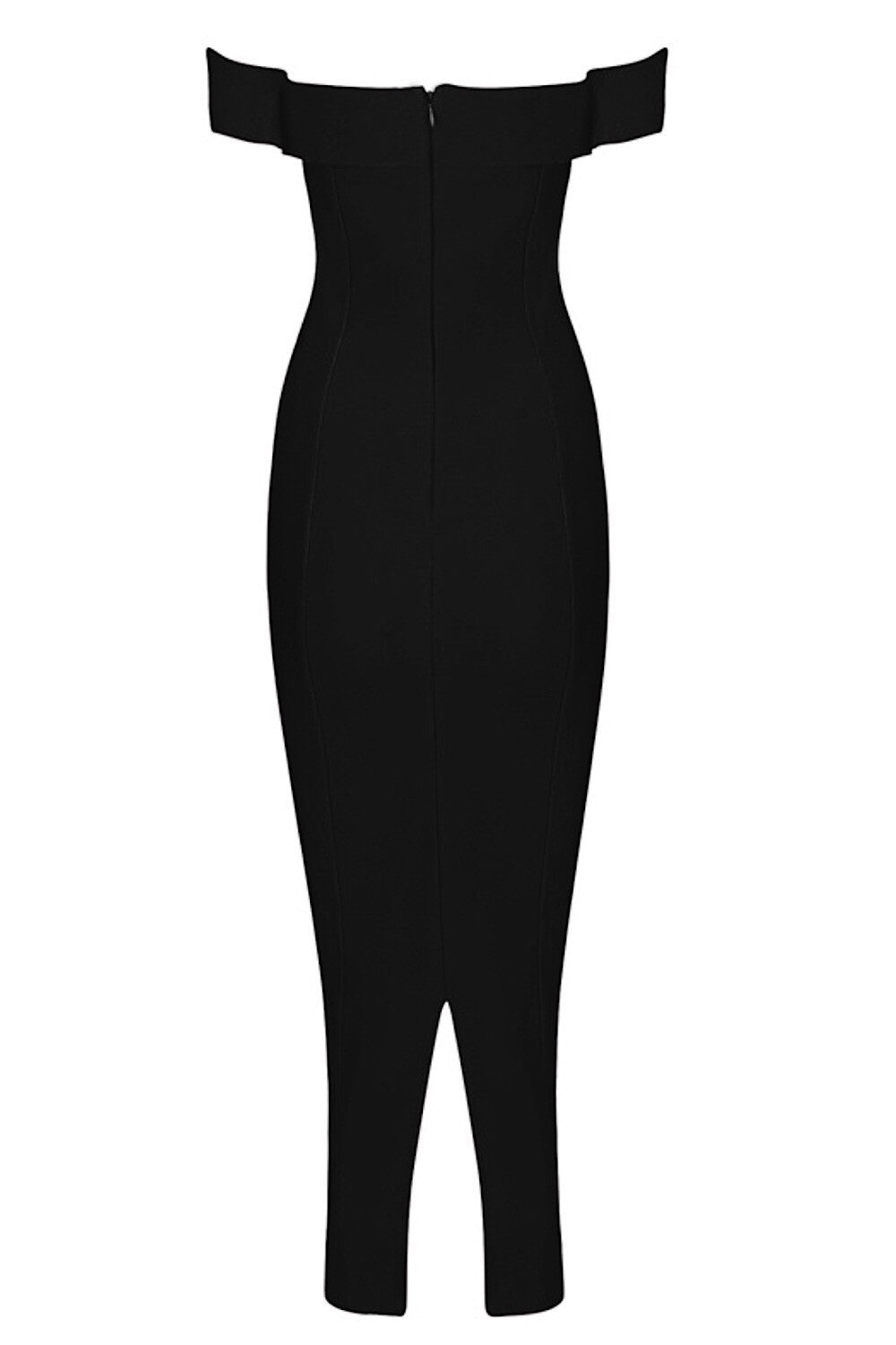 Amelia Black Bandage Dress