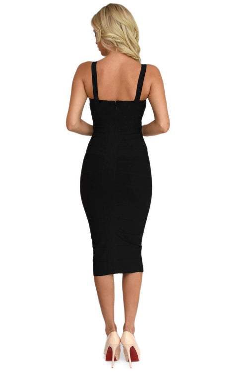 Vogue Black Bandage Dress