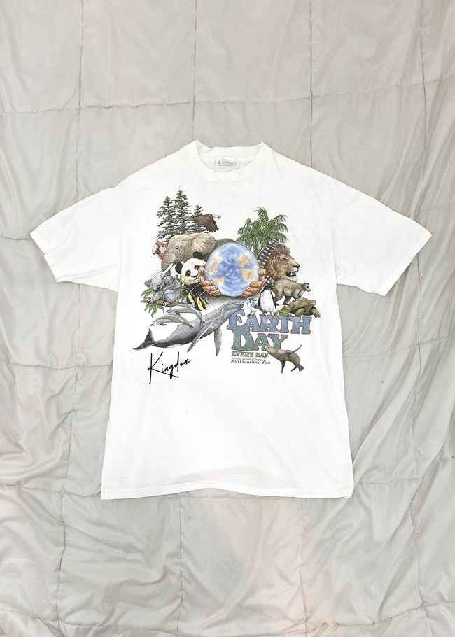 1989 Earth Day San Francisco Zoo Vintage T-Shirt