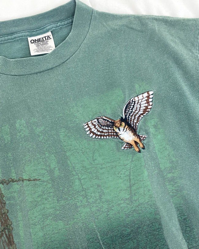 1990's Owl in Forest Vintage T-Shirt