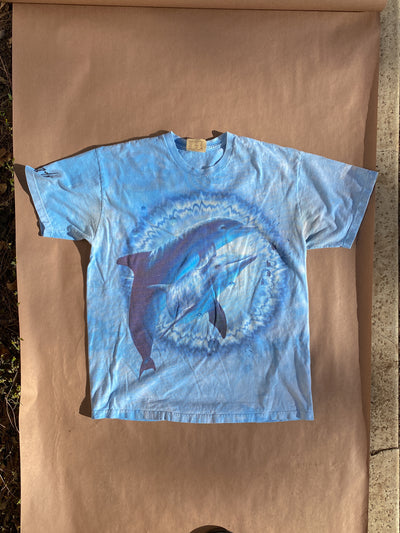 90's Double Dolphin Tie Dye Vintage T-Shirt