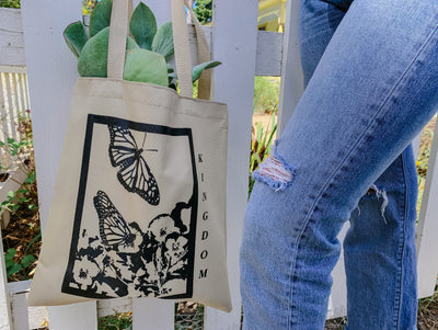 Butterfly Frame Eco Friendly Tote Bag