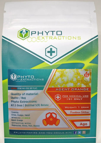 Agent Orange Shatter by Phyto Extractions, Shatter - BudEx
