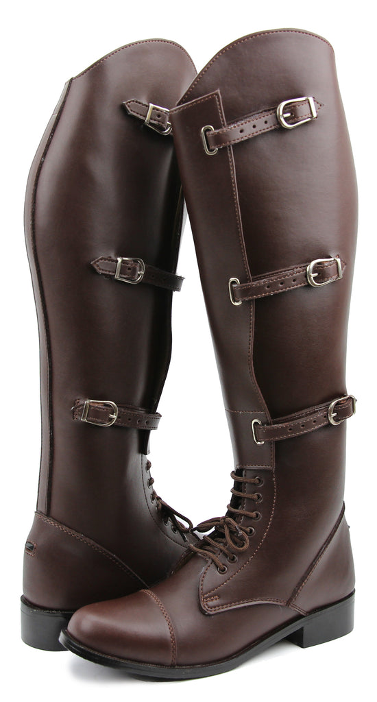 FAMMZ Men's Man MB-1 Fashion Stylish Motorcycle Riding Leather Tall Knee High Boots