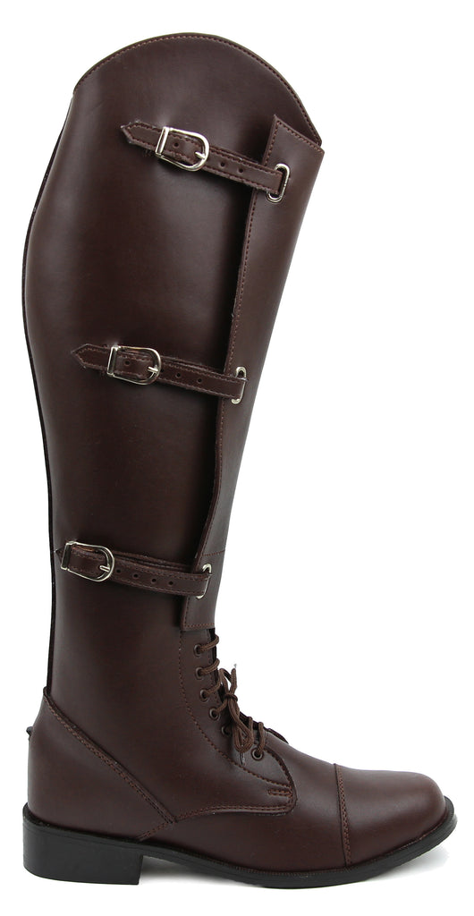 FAMMZ Women Ladies MB-1 Fashion Stylish Motorcycle Riding Leather Tall Knee High Boots