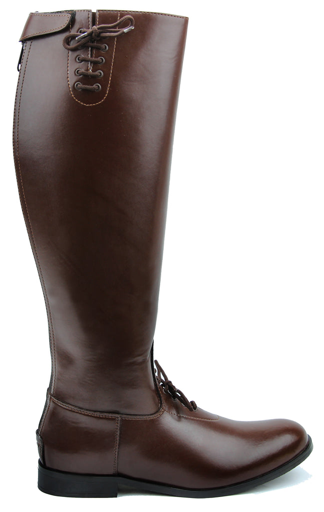 Fammz MB-2 Women Ladies Motorcycle Police Patrol Leather Tall Knee High Riding Boots