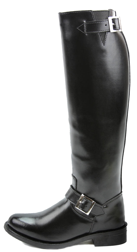 FAMMZ RAVEN Men's Man Motorcycle Police Engineer Trooper Patrol Leather Tall Riding Boots