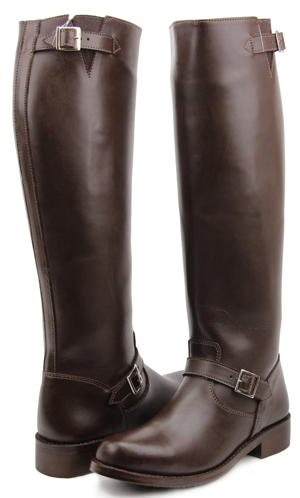 FAMMZ RAVEN Woman Ladies Motorcycle Police Engineer Trooper Patrol Leather Tall Riding Boots