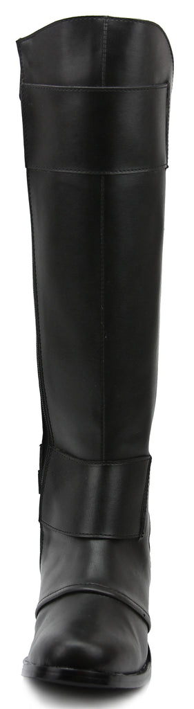 FAMMZ Men's Man Desire Fashion Stylish Motorcycle Riding Leather Tall Knee High Boots