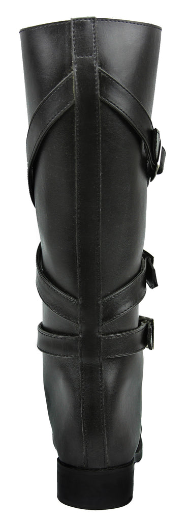 FAMMZ Women Ladies GARDENA Fashion Stylish Motorcycle Riding Leather Tall Knee High Boots