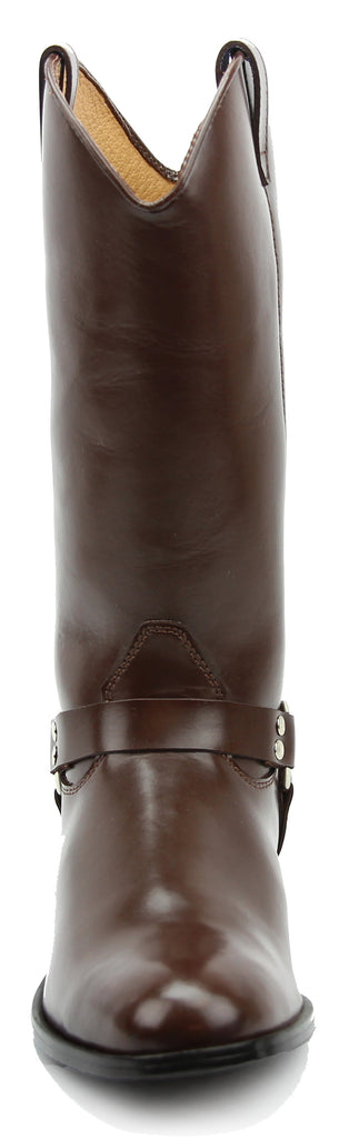 FAMMZ Congo Harness Women Ladies Mid Calf Genuine Leather Boots