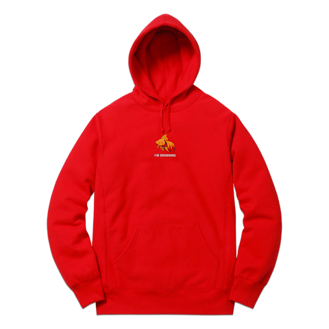 The Despair Hood (Red) - Bittersweet New Zealand Streetwear Clothing T-Shirt Hoodies Auckland Hype Stripes Reddit Declan Short