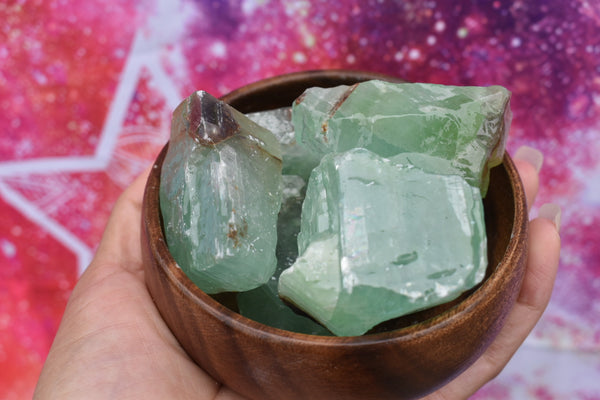 Raw Emerald Calcite Chunk