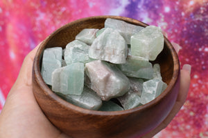 Raw Green Calcite Chunk