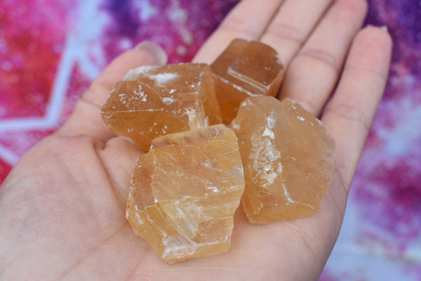 Raw Small Honey Calcite Chunk